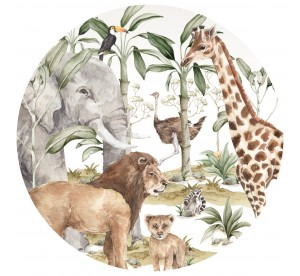 Savanna World In A Circle